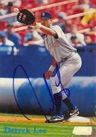Derrek Lee San Diego Padres 1998 Topps Stadium Club Autographed Hand Signed Trading... by Hall+of+Fame+Memorabilia