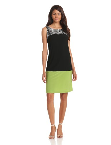 Tiana B Womens Color Block Shift Dress