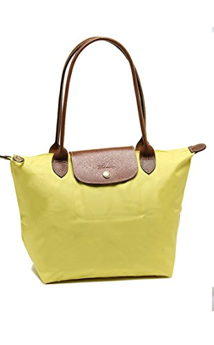 Longchamp discount duty free Longchamp Large Shoulder Tote - Le Pliage - Lemon