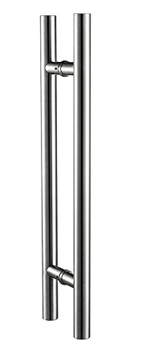 Togu 450mm / 18 Inches Push-pull Stainless-steel Door Handle for Entrance/entry/shower/glass/shop/store, Interior/exterior Barn & Gates - Brushed Stainless Steel Finish (Door Handle Steel compare prices)