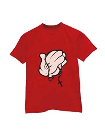 Green turtle cartoon hands praying t shirt for Green turtle t shirts review