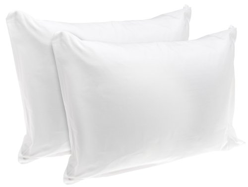 Check Out This Rest Right 100% Cotton Zippered Pillow Protector, Set of 2, Standard