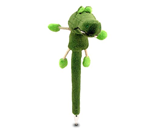 Puzzled Alligator Plush Pen