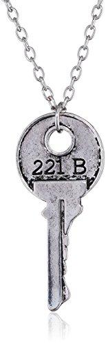 Collana chiave Sherlock Holmes 221B di Baker Street.