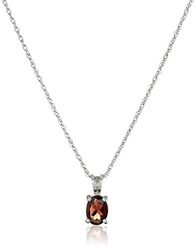 sterling-silver-oval-garnet-pendant-necklace
