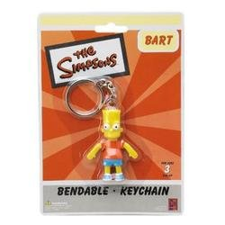 "Simpsons/Bart 2.5"" Bendable Keychain - 1"
