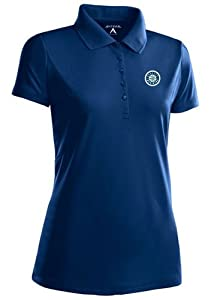 Seattle Mariners Ladies Pique Xtra Lite Polo Shirt (Team Color) by Antigua