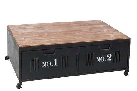 Tavolo da salotto officina in metallo legno