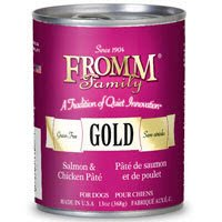 Fromm Gold Grain Free Salmon Chicken Pate Canned Dog Food
