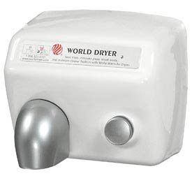 World Dryer DA5-974 Push Button Hand Dryer 115 Volt, Quiet Hand Dryer