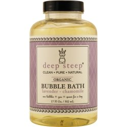 Deep Steep Honey Bubble Bath, Lavender Chamomile 17 Oz