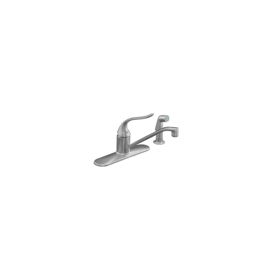 KOHLER K 15172 F G Coralais Single Control Kitchen Sink Faucet, Brushed Chrome