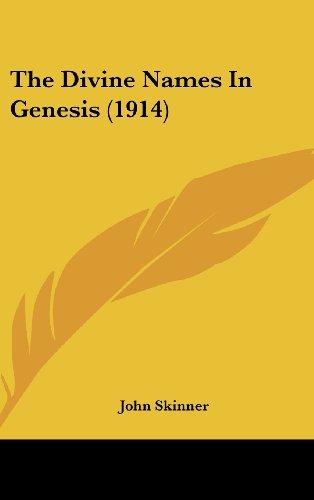 The Divine Names in Genesis (1914)