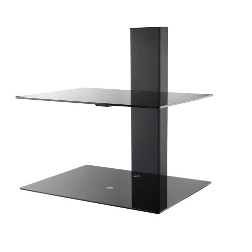 Revena VLS-WS2B Duel AV Component Wall Shelf (Black)
