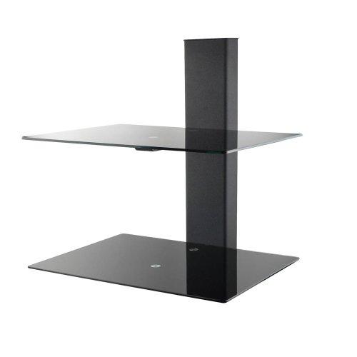 Revena VLS-WS2B Duel AV Component Wall Shelf (Black)