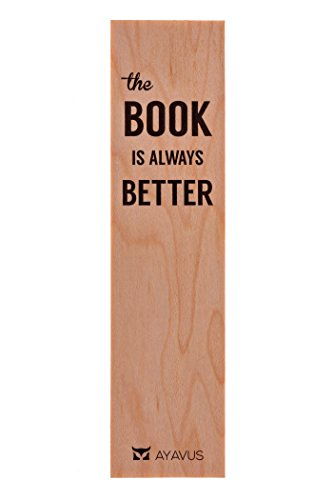 The Book Is Always Better Wood Bookmark Wooden Bookmark Quotes Gift for Readers Made in USA