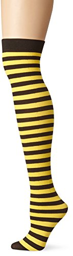 Be Wicked Women's Nylon Striped Thigh High