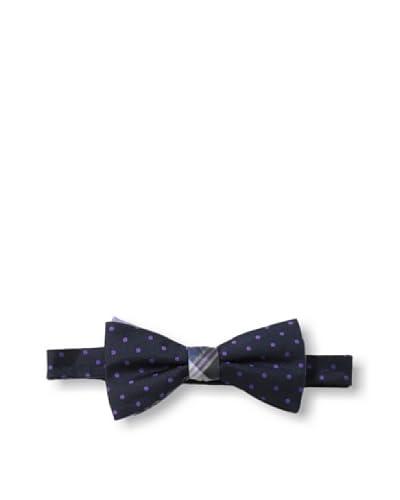 Ben Sherman Men's Reversible Pre-Tie Plaid & Dot Bow Tie, Purple