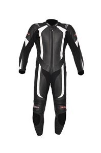 RST R-14 MOTORCYCLE MOTORBIKE LEATHER SUIT RACE TRACK ROAD ONE PIECE WHITE 40