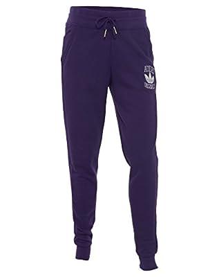 Adidas Originals Women's Cuffed Slim Jogger Track Pants-Purple