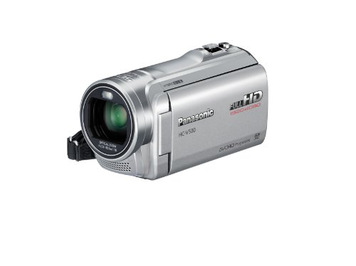 Panasonic V500 Full HD 1920 x 1080p (50p) 3D Ready Camcorder - Silver (1MOS Sensor, 50x Intelligent Zoom, SD Card Recording, 2D/3D Conversion with Face Recognition) 3.0 inch LCD