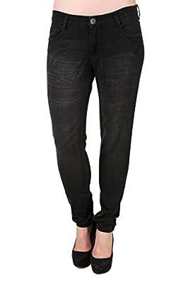 Bomshel Black Mid rise Slim jeans