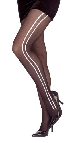 Black and White Stripe Tights
