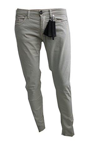 Paolo Pecora Jeans 5 Tasche Denim Avorio 98% cotone 2% elastan Taglia 47