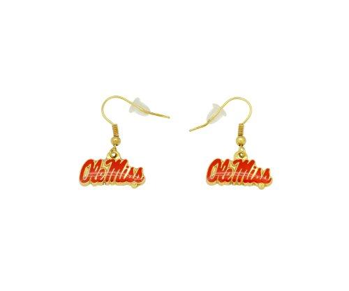 NCAA Mississippi Rebels Logo Dangler Earrings
