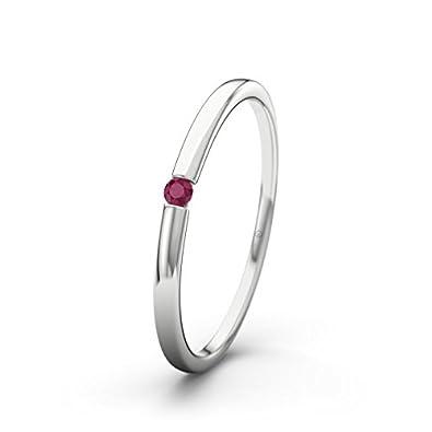 21DIAMONDS Lauren Ruby Brilliant Cut Women's Ring 14Carat (585) White Gold Engagement Ring