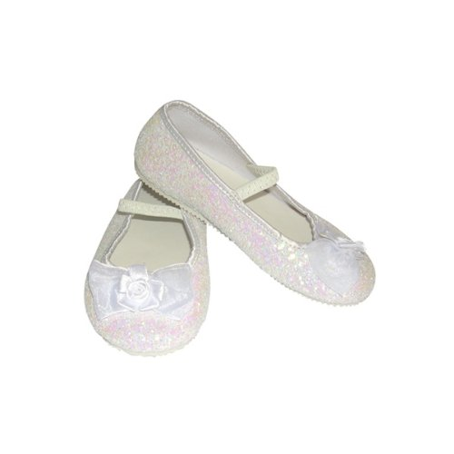 White Glitter Party Shoes - Kids Accessory 4 - 5 years