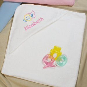 Embroidered Fish Hooded Baby Towel