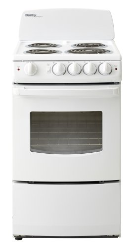 Danby DER201W 20-Inch Electric Range with Coil Element Cooktop, 2.4 Cubic Feet, White