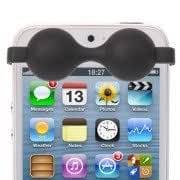 Silicone Material Brassiere Style Protection Anti-dust Sticker for iPhone 5 (Black)