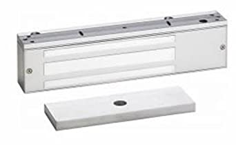 """SDC 1511S Series Exit Check Single Aluminum Integrated Delayed Egress Electromagnetic Lock with Key Switch/Door Position/Magnetic Bond Alert/Anti-Tamper Sensor, 12 VDC, 1650 lbs Holding Force, 11"""" Length x 2-3/4"""" Height x 1-9/16"""" Depth (Pack of 1)"""