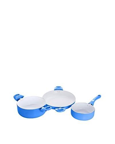 Ceramic Batería De Cocina 3 Piezas Azul