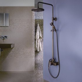 Bathroom Shower Hardware : Shower Head Wall Mounted Bathroom with Handheld Shower Rainfall ...