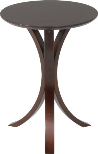 不二貿易 サイド テーブル ダーク ブラウン 天板 直径 40cm 77662