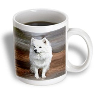 3Drose American Eskimo Toy Dog Mug, 11-Ounce