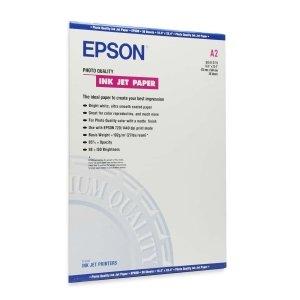 Epson Coated Paper. 30SHT A2 16.5X23.4 MATTE PHOTO QUALITY PRESENTATION INKJET PAPER PAPER. A2 - 16.5' x 23.4' - 102g/m - Matte - ISO Brightness - 30 Sheet - White