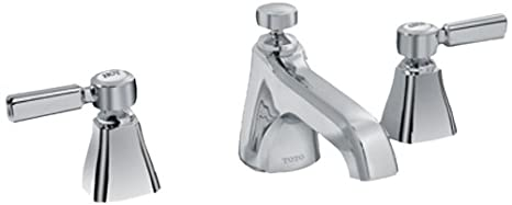 Toto TL970DD1LQ#CP 1.5 GPM Guinevere Lever Handle Widespread Lavatory Faucet, Polished Chrome