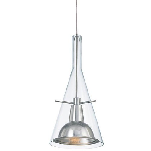 Kovacs Gk P8111 1 Light Mini Pendant From The Contemporary Collection, Brushed Nickel