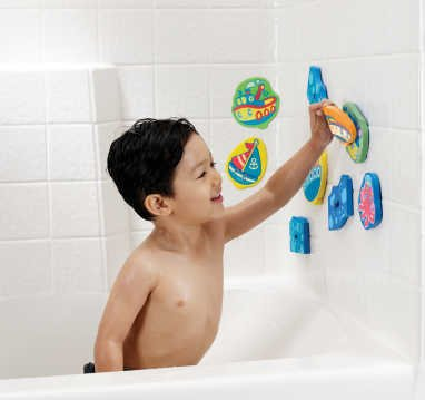 Munchkin 1530315313 Bath Tub Foam Play set - Marine Adventures - 1