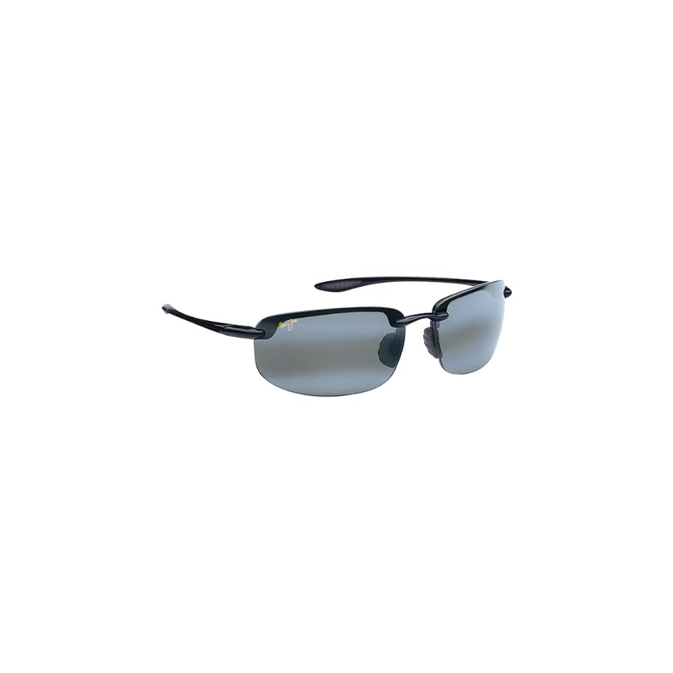 Maui Jim Sunglasses Hookipa Mens Polarized Eyewear   Gloss Black/Neutral Grey / One Size Fits All