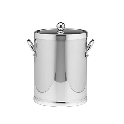 Kraftware 70042 Americano 5 Qt Ice Bucket With Side Handle In Polished Chrome
