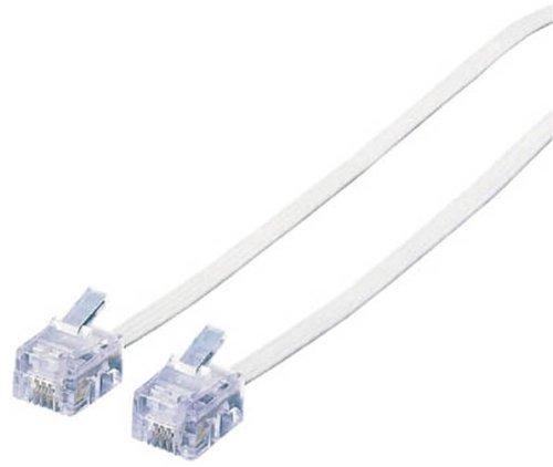 MJ-10WH, ELECOM スリムモジュラ cable (white) 10 m.