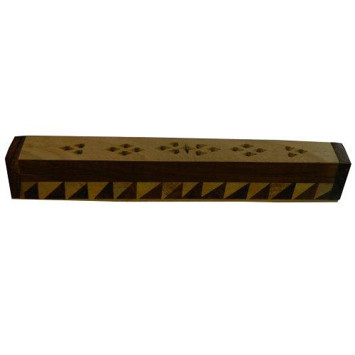 Porta inciensos triángulo 25 cm madera