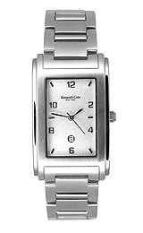 Kenneth Cole Men's Steel Date Silver Dial watch #KC3142
