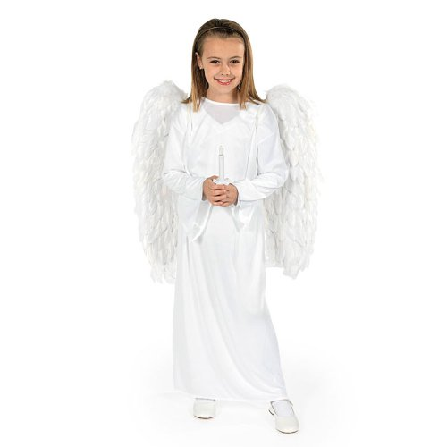 Angel Costume with Wings & Candle - Child Small