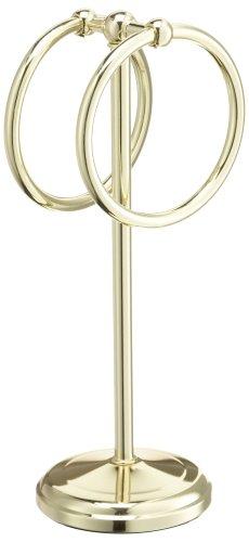 Taymor Pedestal Fingertip Towel Rings, Brass
